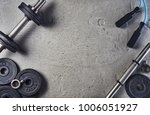 fitness or bodybuilding concept ... | Shutterstock . vector #1006051927
