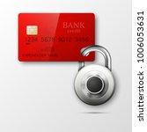 credit card safe combination...   Shutterstock .eps vector #1006053631