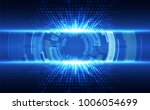 abstract vector blue technology ... | Shutterstock .eps vector #1006054699