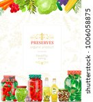 banner with delicious canned... | Shutterstock .eps vector #1006058875