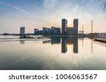 modern building and beautiful... | Shutterstock . vector #1006063567