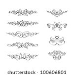 set of calligraphic swirl... | Shutterstock .eps vector #100606801