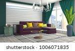 interior living room. 3d... | Shutterstock . vector #1006071835