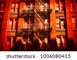 escape fire ladders at house... | Shutterstock . vector #1006080415