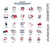 set of seo and development icons | Shutterstock .eps vector #1006087195