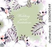 flowers background vector. | Shutterstock .eps vector #1006090549