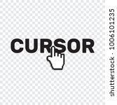 pixel cursors icons mouse hand... | Shutterstock .eps vector #1006101235