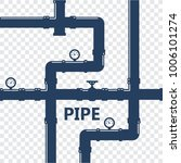 pipe fittings vector icons set. ... | Shutterstock .eps vector #1006101274
