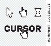 pixel cursors icons mouse hand... | Shutterstock .eps vector #1006101331