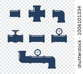 pipe fittings vector icons set. ... | Shutterstock .eps vector #1006101334