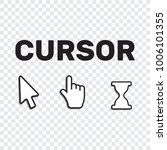 pixel cursors icons mouse hand... | Shutterstock .eps vector #1006101355
