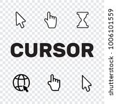 pixel cursors icons mouse hand... | Shutterstock .eps vector #1006101559