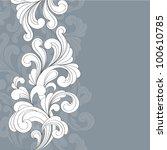 vintage floral background. | Shutterstock .eps vector #100610785