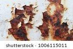 Texture Of Rusty Iron  Cracked...