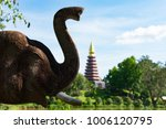 Elephant Statue In Thailand