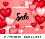 sale valentines day hearts... | Shutterstock .eps vector #1006131565