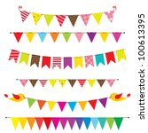 vector bunting and garland set | Shutterstock .eps vector #100613395