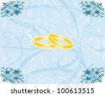 blue texture with nuptial faiths | Shutterstock .eps vector #100613515
