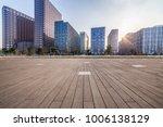 empty floor with modern... | Shutterstock . vector #1006138129