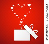 gift box  and paper heart on... | Shutterstock .eps vector #1006140565