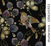 Embroidery Titmouse And Clover...