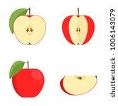 raster copy  red apple on white ...   Shutterstock . vector #1006143079