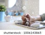 microchip  cpu  processor ... | Shutterstock . vector #1006143865