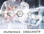iot  automation  industry 4.0.... | Shutterstock . vector #1006144579