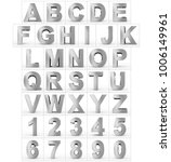 letters and numbers 3d silver... | Shutterstock . vector #1006149961
