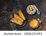 espresso and italian cookies... | Shutterstock . vector #1006151491