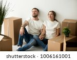 young tired satisfied couple... | Shutterstock . vector #1006161001