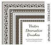 vector decorative brushes with... | Shutterstock .eps vector #1006162555