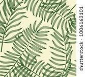 leaves seamless pattern.... | Shutterstock .eps vector #1006163101
