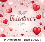 valentine's day background.... | Shutterstock .eps vector #1006164277