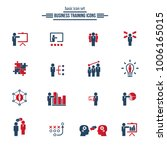 business training icon set | Shutterstock .eps vector #1006165015