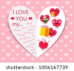 happy valentines day. greeting... | Shutterstock .eps vector #1006167739