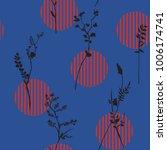 vector botanic silhouette... | Shutterstock .eps vector #1006174741