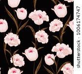 floral seamless pattern. dark... | Shutterstock .eps vector #1006174747
