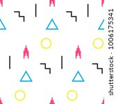 seamless geometric pattern.... | Shutterstock .eps vector #1006175341