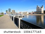 beautiful morning view of city... | Shutterstock . vector #1006177165