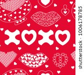 seamless pattern of cupid day... | Shutterstock .eps vector #1006178785
