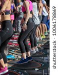 mini rebounder workout  girls... | Shutterstock . vector #1006178869