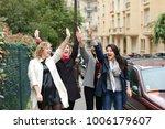 three international students... | Shutterstock . vector #1006179607