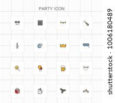 party colored icons   04 | Shutterstock .eps vector #1006180489