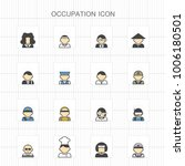 occupation colored icons   03 | Shutterstock .eps vector #1006180501