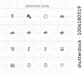 weather line icons   02 | Shutterstock .eps vector #1006180519