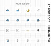 weather line icons   01 | Shutterstock .eps vector #1006180525
