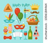 purim holiday elements set for... | Shutterstock .eps vector #1006184464