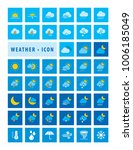 modern weather forecast icons...   Shutterstock .eps vector #1006185049
