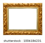 golden picture frame isolated | Shutterstock . vector #1006186231